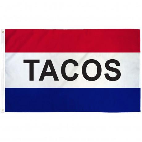 Tacos Patriotic 3' x 5' Polyester Flag