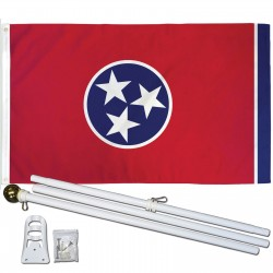Tennessee State 3' x 5' Polyester Flag, Pole and Mount