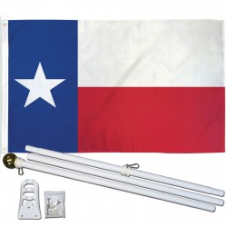 Texas State 3' x 5' Polyester Flag, Pole and Mount