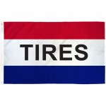 Tires 3' x 5' Polyester Flag