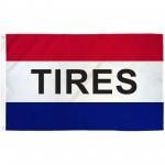 Tires 3' x 5' Polyester Flag