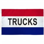 Trucks Patriotic 3' x 5' Polyester Flag