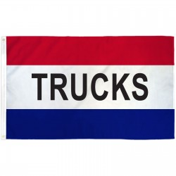 Trucks Patriotic 3' x 5' Polyester Flag