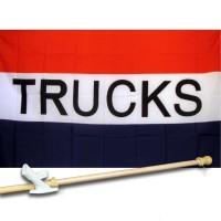 TRUCKS 3' x 5'  Flag, Pole And Mount.
