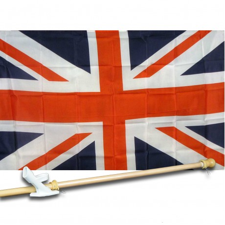 UK UNION JACK BRITISH 3' x 5'  Flag, Pole And Mount.