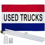 Used Trucks Patriotic 3' x 5' Polyester Flag, Pole and Mount