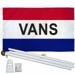 Vans Patriotic 3' x 5' Polyester Flag, Pole and Mount