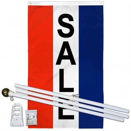 Sale Vertical 3' x 5' Polyester Flag, Pole and Mount