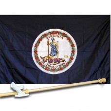 VIRGINIA 3' x 5'  Flag, Pole And Mount.