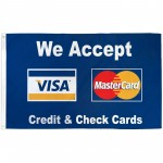 We Accept Visa & Mastercard 3' x 5' Polyester Flag