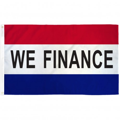 We Finance Patriotic 3' x 5' Polyester Flag