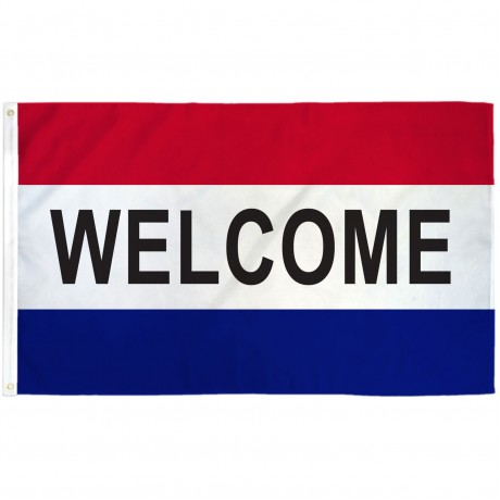 Welcome Patriotic 3' x 5' Polyester Flag