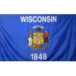 Wisconsin 3'x 5' Solar Max Nylon State Flag