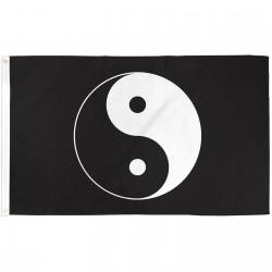 Yin Yang Black 3'x 5' Novelty Flag