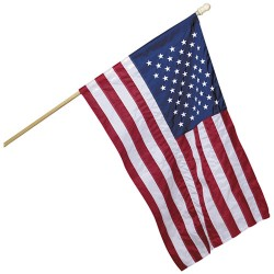 "American Flag 28""x 40"" Sleeve Banner"