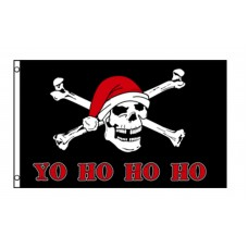 Yo Ho Ho Santa Pirate 3'x 5' Pirate Flag