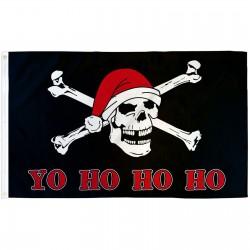 Yo Ho Ho Ho Santa Pirate 3'x 5' Polyester Flag