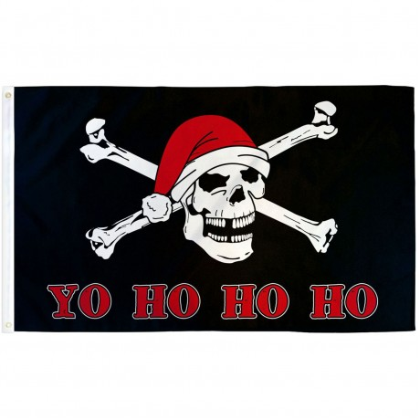 Yo Ho Ho Santa Pirate 3'x 5' Pirate Flag