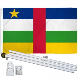 Central Africa 3' x 5' Polyester Flag, Pole and Mount