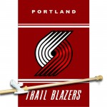 PORTLAND TRAIL BLAZERS 3' x 5'  Flag, Pole And Mount.