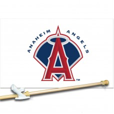 ANAHEIM ANGELS 3' x 5'  Flag, Pole And Mount.