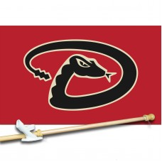 ARIZONA DIAMONDBACKS 3' x 5'  Flag, Pole And Mount.
