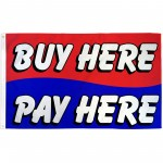 Buy Here Pay Here 3' x 5' Polyester Flag