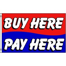 Buy Here Pay Here 3'x 5' Business Flag