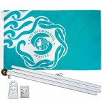 Seattle City 3' x 5' Polyester Flag, Pole and Mount