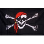 Jolly Roger Red 4'x 6' Pirate Flag