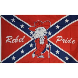 CONFEDRATE PRIDE OLE MISS 3X5 POLY FLAG