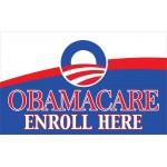 Obamacare Enroll Here 3' x 5' Polyester Flag