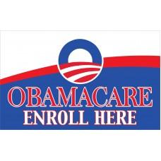 Obamacare Enroll Here 3' x 5' Flag