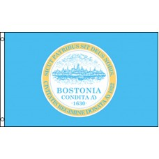 BOSTON CITY (BOSTONIA) 3' X 5' POLY FLAG