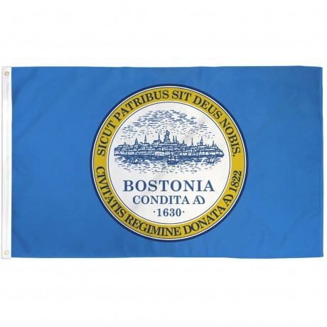 Boston City Bostonia 3' x 5' Polyester Flag