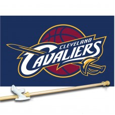 ClevelAnd CAvAliers 3' x 5'  Flag, Pole And Mount.