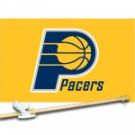 IndiAnA PAcers 3' x 5'  Flag, Pole And Mount.