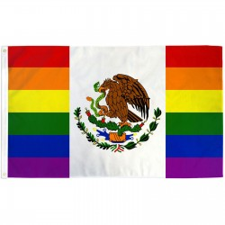 Mexico Pride Rainbow 3' x 5' Polyester Flag
