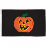 Pumpkin Black 3' x 5' Polyester Flag