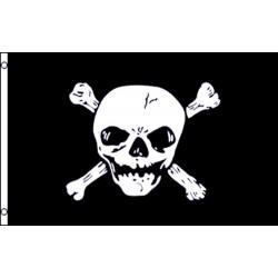 Jolly Roger Cross Bones Large Skull 3' x 5' Polyester Flag