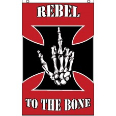 REBEL TO THE BONE VERTICAL POLY 3' X 5' FLAG