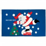 Santa Ho Ho Ho 3' x 5' Polyester Flag