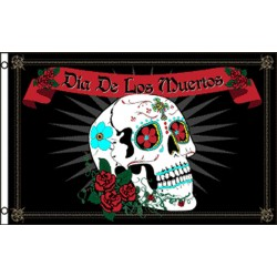 Dia De Los Muertos Sugar Skull 3' x 5' Polyester Flag