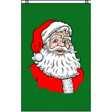 Santa Green Vertical 3' x 5' Polyester Flag