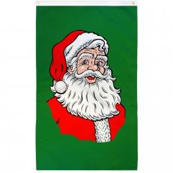 Santa Green Vertical 3' x 5' Polyester Flag