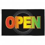Open Neon 3' x 5' Polyester Flag