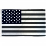 USA Black and White 3' x 5' Polyester Flag