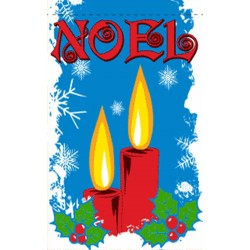 Noel Candles 3' x 5' Polyester Flag