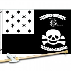 Don't Tread On Me Thy Will Be Done 3' x 5' Polyester Flag, Pole and Mount