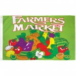 Farmers Market Green 3' x 5' Polyester Flag